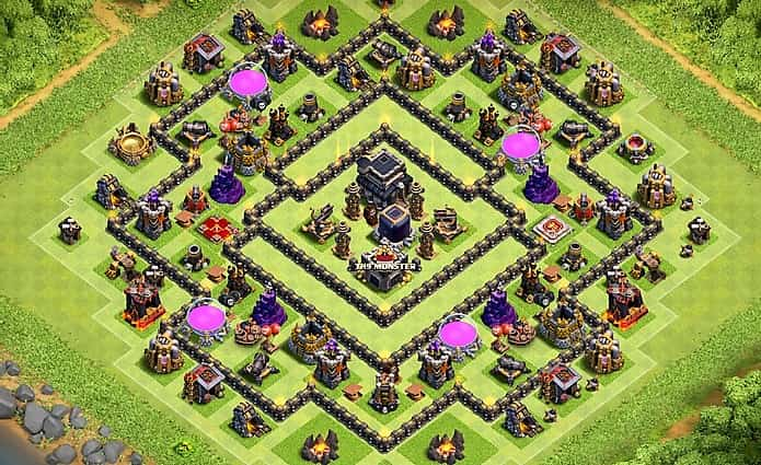 Clash Of Clans Th9 Best Farming Base Layout Design 2018